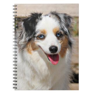 Bennett - Aussie Mini - Rosie - Carmel Beach Spiral Notebook