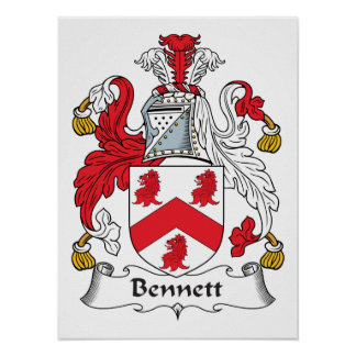 Bennett Family Crest Posters
