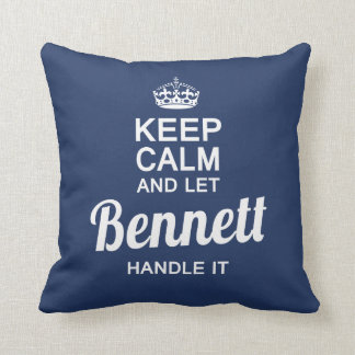 Bennett handle it! cushion