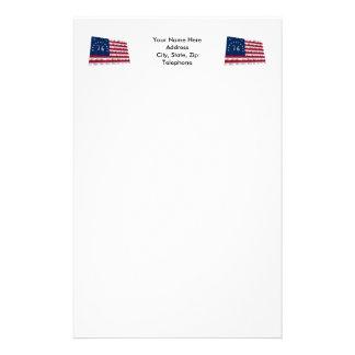 Bennington Flag Stationery Design