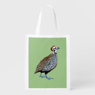 BennuBirdy Montezuma Quail Reusable Grocery Bag