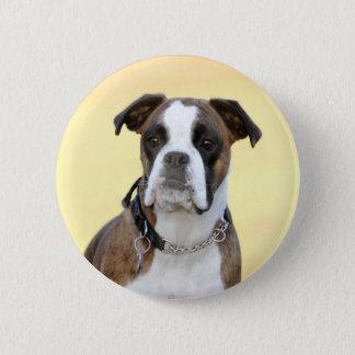 Benson the Boxer dog 6 Cm Round Badge