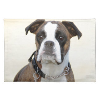 Benson the Boxer dog Placemat