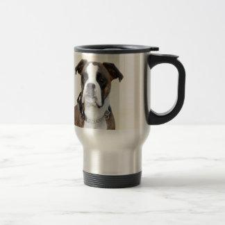 Benson the Boxer dog Travel Mug