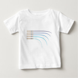 Bent Fishing rod vector curved rod blanks Baby T-Shirt