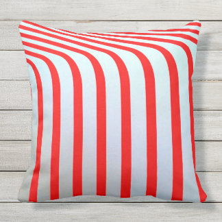 BENT PEPPERMINT CANDY STRIPES Throw Cushion