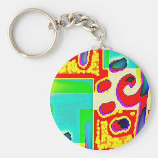 Bent Spot Hop Basic Round Button Key Ring