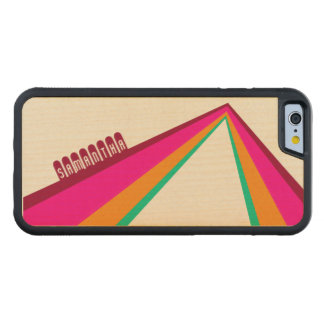 Bent Stripes - Custom Wood Phone Case