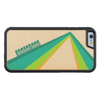 Bent Stripes - Custom Wood Phone Case Carved® Maple iPhone 6 Bumper Case