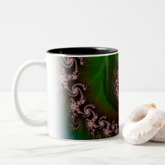 Benthic Saltlife Fractal Tribute for Reef Divers Two-Tone Coffee Mug