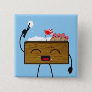 Bento-kun 15 Cm Square Badge