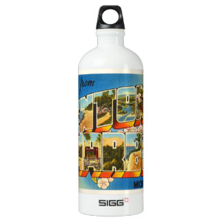 Benton Harbor Michigan MI Vintage Travel Souvenir SIGG Traveller 1.0L Water Bottle