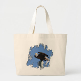 BEOUP Bald Eagle on Utility Pole Jumbo Tote Bag