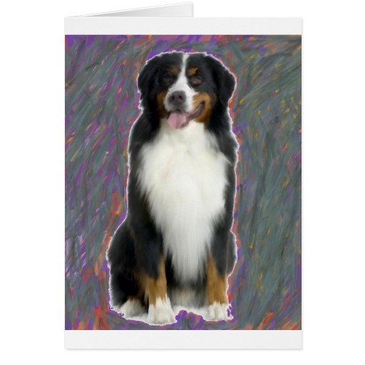 BERANESE MOUNTIAN DOG GREETING CARD