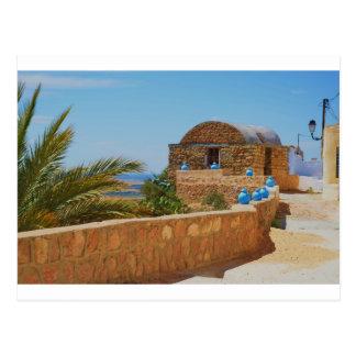 Berber village in Tunisia. Postcard