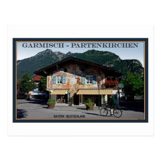 Berchtesgaden - Bavarian Biker Postcard