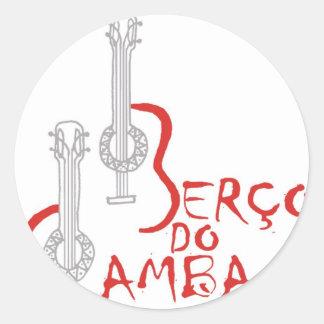 Berço do Samba Round Stickers
