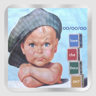 Beret Baby Square Sticker