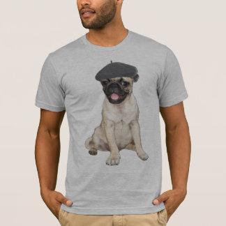 Beret Pug T-Shirt