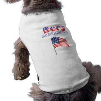 Berg for Congress Patriotic American Flag Sleeveless Dog Shirt