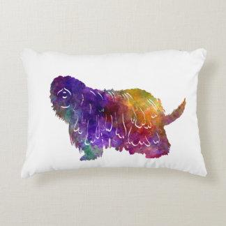 Bergamasco Shepherd in watercolor Decorative Cushion