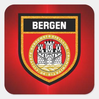 Bergen Flag Square Sticker