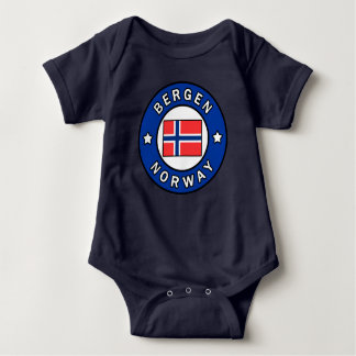 Bergen Norway Baby Bodysuit
