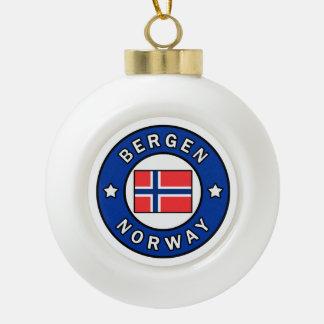 Bergen Norway Ceramic Ball Christmas Ornament