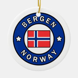 Bergen Norway Ceramic Ornament
