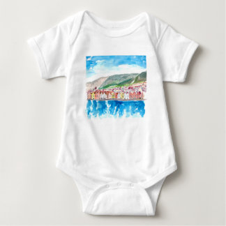 Bergen Norway Old Bryggen Harbour Seafront Baby Bodysuit