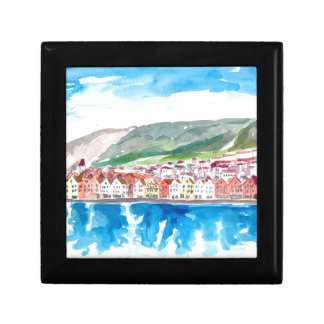 Bergen Norway Old Bryggen Harbour Seafront Gift Box