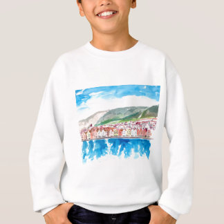 Bergen Norway Old Bryggen Harbour Seafront Sweatshirt