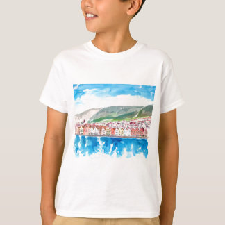Bergen Norway Old Bryggen Harbour Seafront T-Shirt