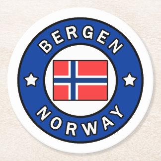 Bergen Norway Round Paper Coaster