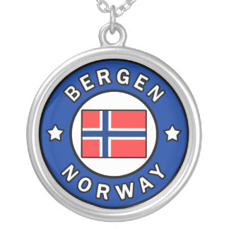 Bergen Norway Silver Plated Necklace