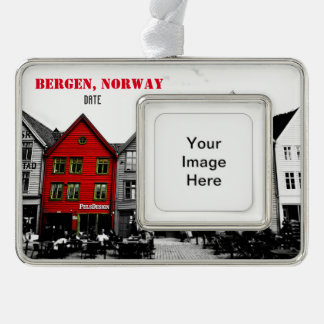Bergen Norway Travel Christmas Ornament Customized