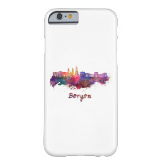 Bergen skyline in watercolor barely there iPhone 6 case