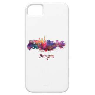 Bergen skyline in watercolor iPhone 5 cases