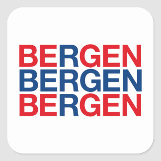 BERGEN SQUARE STICKER