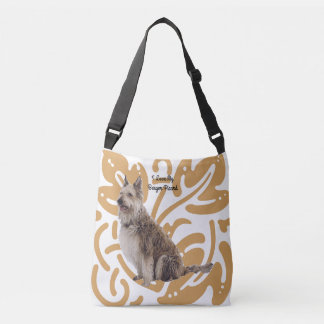 Berger Picard on old gold print Crossbody Bag