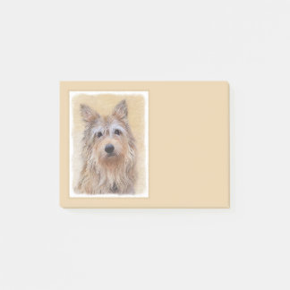 Berger Picard Painting - Cute Original Dog Art Post-it Notes