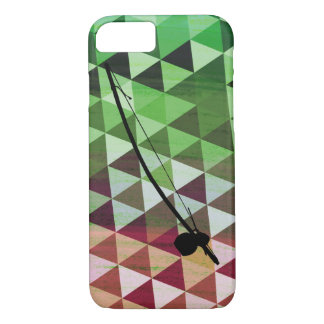 Berimbau on a colourful geometric background iPhone 7 case