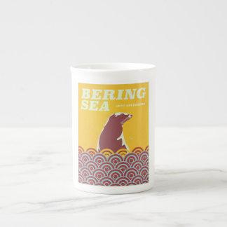 Bering Sea vintage style 1970s adventure poster Tea Cup