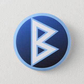 Berkana Beorc Rune 6 Cm Round Badge