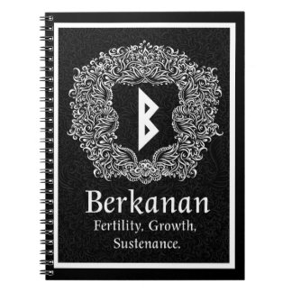 Berkanan Rune /Fertility / Black Version Notebook