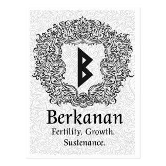 Berkanan Rune /Fertility / White Version Postcard