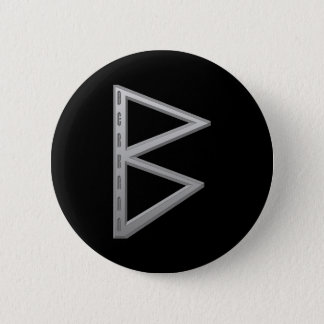 Berkano Rune grey 6 Cm Round Badge