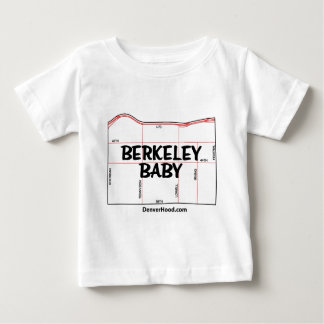 Berkeley Baby Neighborhood Map - Black Text T-shirt