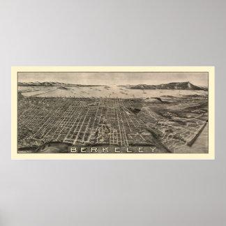 Berkeley, CA Panoramic Map - 1909 Poster