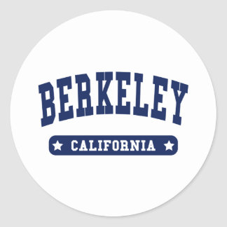 Berkeley California College Style t shirts Classic Round Sticker
